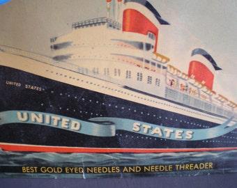 Vintage Mid Century Sewing Needles - United States - Best Gold Eyed Needles