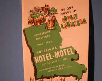 Vintage Mid Century Travel Guide - Louisiana Hotel - Motel Association  Membership Directory