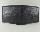 RESERVED: Mandalorian Bounty Hunter Wallet - Aged Black