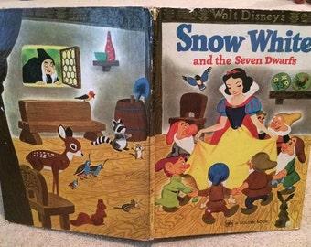Walt Disney's Snow White And The Seven Dwarfs Golden Book Hardback 1975 USA