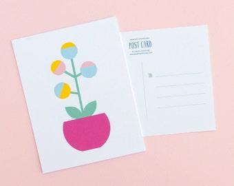 Floral Post Cards | Scandinavian Inspired Flower Postcards | Set of 6