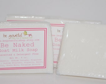 Be Naked Unscented Goat Milk Glycerin Soap