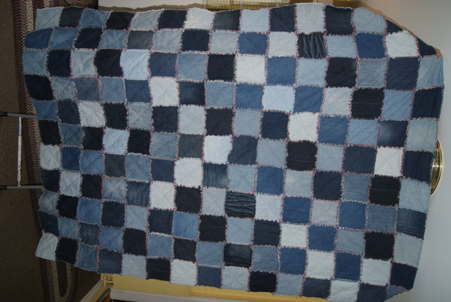 Rag Quilt Patterns For Twin Bed : Denim Rag Quilt Twin Size