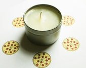 Pizza Scented Candle - Vegan Candle - Homemade Candles - Natural Candles - Tin Candle - Container Candle