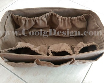 Diaper Bag Organizer Insert for LV Neverfull MM  / Extra Sturdy /  Faux Suede / Large + FREE Pacifier Holder