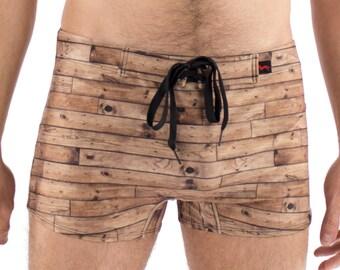 Men's Wood Swimsuit Trunk