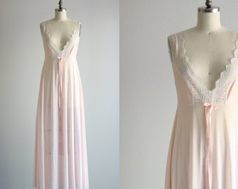 Pink Lingerie . Long Maxi Nightgown . Valley of the Dolls Night Gown
