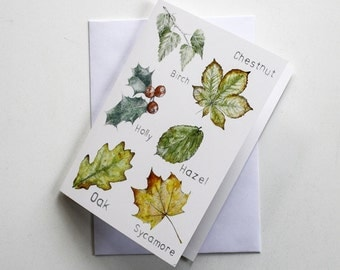 Blank card - Leaves Collection