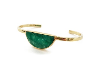 Moon Gazer stone bangle - Emerald