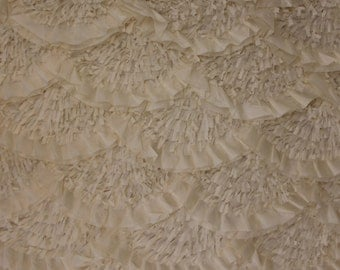 1 YARD of Couture Embroidery Wedding Gown Fabric - CARESS