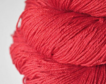 Rotting poisonous strawberry OOAK - Merino/Silk Fingering Yarn Superwash