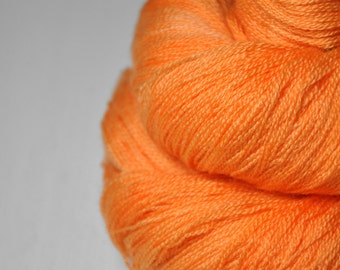 Leaking neon highlighter OOAK - Merino/Silk/Cashmere Fine Lace Yarn