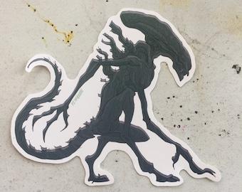 Alien Xenomorph waterproof sticker