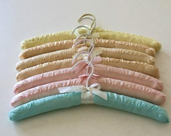 Vintage Padded Hangers, Pastel Tone, Satin, Fashion, Display