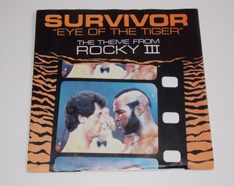 "1982 - Rocky 3 - Survivor - The Eye Of The Tiger - Original Soundtrack 7""Single - Picture Sleeve Vinyl Record"