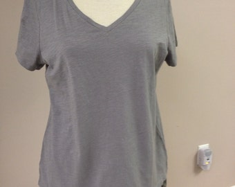 T-shirt gray with lace bottom - L