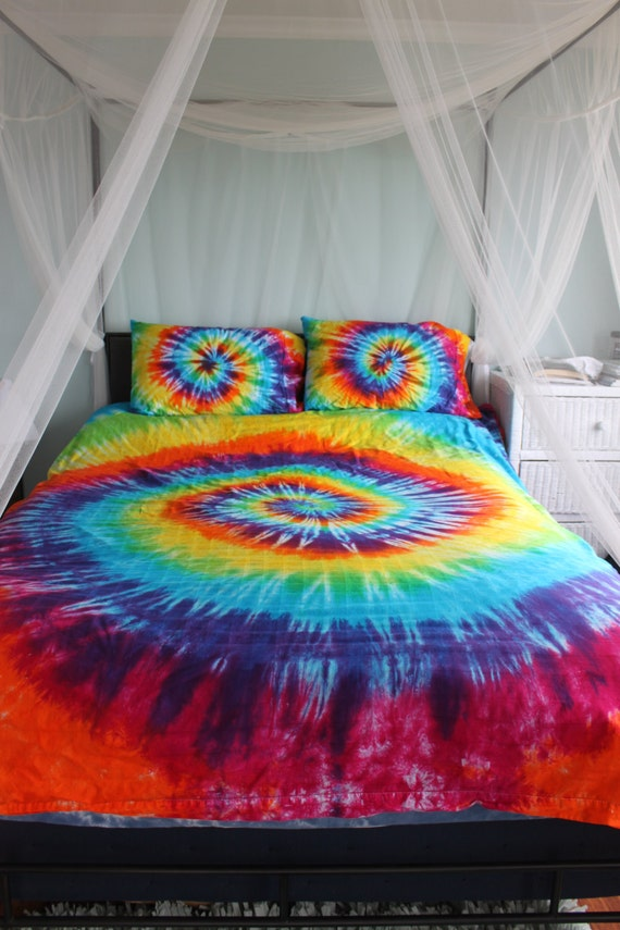 Tie Dye Duvet Comforter Cover Set By Doyoudreamoutloud On Etsy