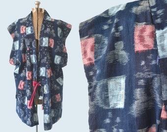 1940s Indigo Kasuri Vest size L
