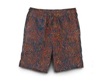 Batik Mens Shorts, Casual Cotton Shorts, Boho Casual Shorts, Batik Shorts