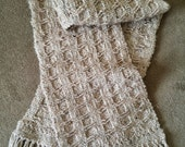PDF Pattern Download for Pantheon Inspired Coffered Woven Scarf