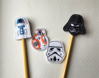 Star Wars Pencil Toppers- Individually or a Set for 8.00