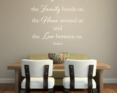 Lord Bless the food before us.   faith Vinyl Lettering wall decal kitchen hallway bedroom art words graphics Home decor itswritteninvinyl