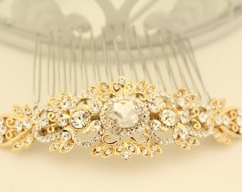 Bridal hair comb gold,Wedding hair comb,Wedding hair accessories,Wedding head piece,Bridal comb gold,Wedding hair piece,Bridal hair jewelry