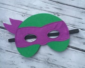 Layered Ninja Turtle Donatello Mask Donatello Felt Mask Ninja Turtle Mask Ninja Turtle Donatello Birthday Mask TNT Felt Mask