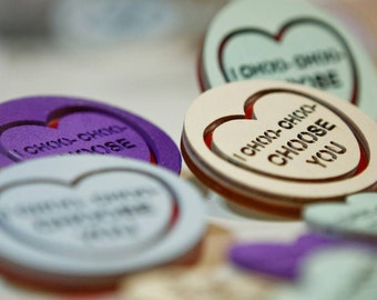 I Choo- Choo- Choose You Ralph Wiggum Valentine's Day Candy Love Heart Brooch.