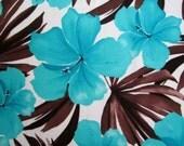Lycra Fabric Remnant Hawaiian Hibiscus Floral Print Lycra Swimwear Dance Wear Fabric Crafts Sewing Y11 12