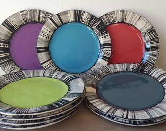 9 inch Salad plates, various colors