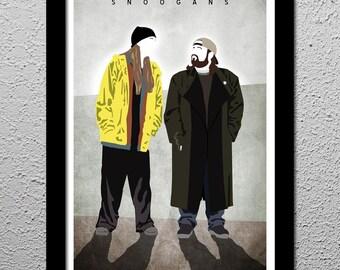 Jay and Silent Bob - Jason Mewes - Kevin Smith - Original Minimalist Art Poster Print