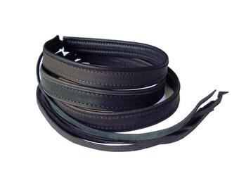 Mens Leather Choker Necklace Dark Brown Black Leather custom made handmade leather chokers
