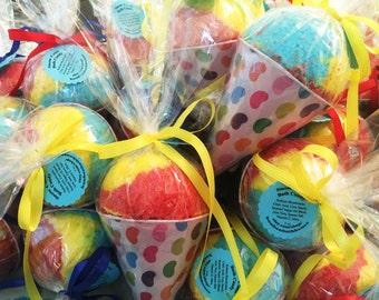 BaTh BoMb SnOw CoNe Fun Summer Party Favor Carnival Pool Prize Birthday Gift Idea! Large Snowcone Bath Fizz - FUN for the TUB Kid Party Gift