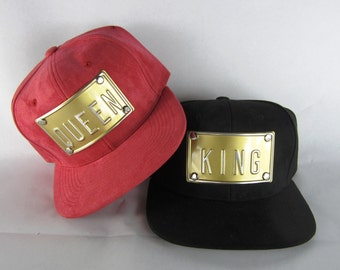 KING suede hat QUEEN suede hat king hat queen hat king snapback queen snapback suede hat slay hat yasss hat la ny nyc hat custom customize