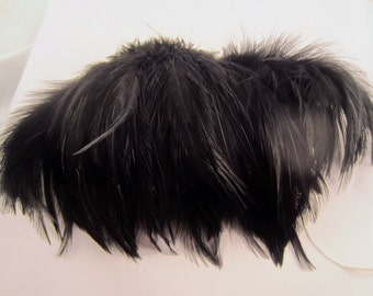 Black  Feathers Saddle Feathers bulk feathers