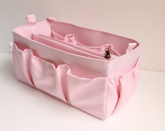 Rose Purse insert to match rose ballerine lining Louis Vuitton Neverfull MM - Bag organizer insert