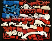American Assemblage - Print on Wood Block