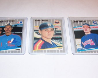 3 Assorted Vintage Star Rookie Baseball Cards-lot 3