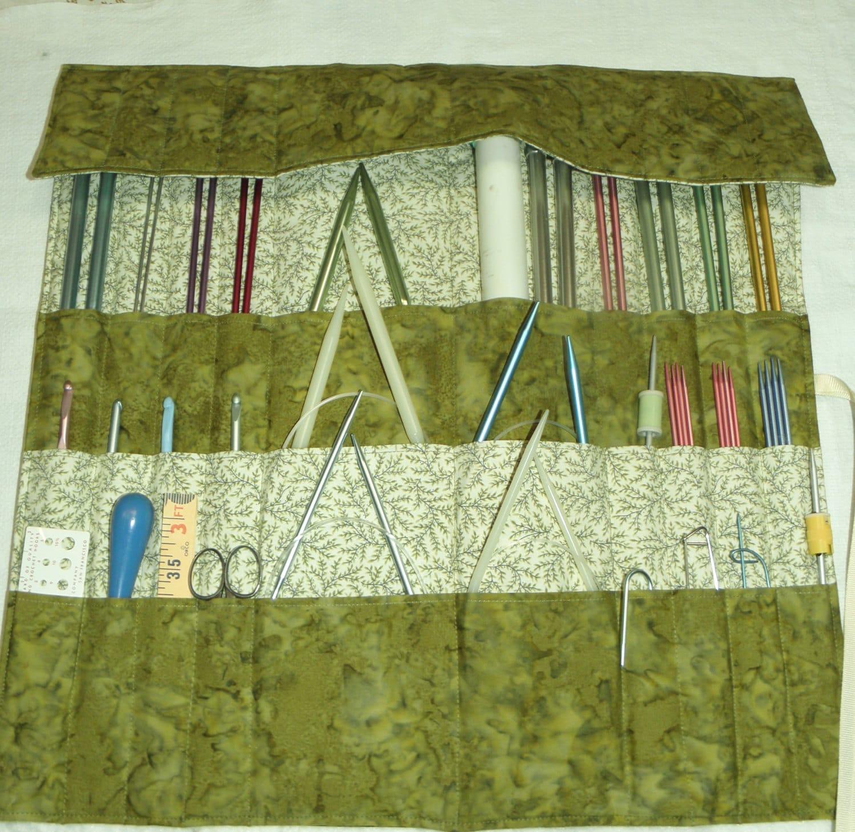 Knitting Needle Organizer Pattern : Knitting Needle Organizer Knitting Needle Case Knit/Crochet