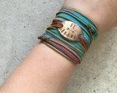 Boho Wrap Bracelet - Be Brave bracelet - boho wrap bracelet, arrow bracelet, Boho - Inspirational - brave jewelry - Graduation gift.