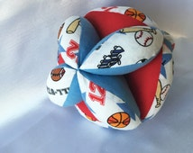 Sports Themed Amish Puzzle Ball – Easy Clutch Ball - Baby Grab Ball - A Great Toy for Babies, Toddlers and Up. Simple and basic toys