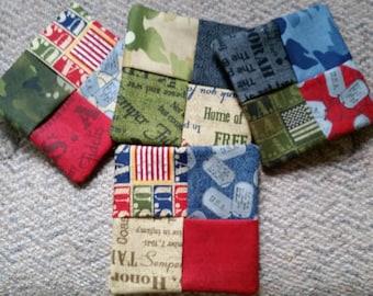 Military Fabric Coasters Set of 4