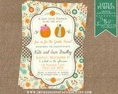 Little Pumpkin - A Gender Reveal Party Invitation - Fall Gender Reveal - Pumpkin Invitation - Boy or Girl
