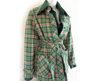 1970s Alex Colman of California 2-piece Pants Suit / plaid