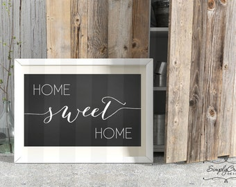 SALE Chalkboard Sign Home Sweet Home Sign DIGITAL Printable Signs Instant Download 12x24 inches