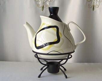 Vintage Red Wing Teapot Smart Set Mid Century Modernist 1955
