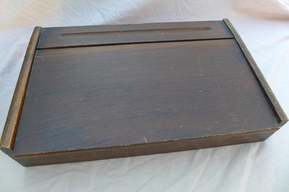 Vintage wooden lap desk mini desk writing desk love - Wood lap desk with storage ...