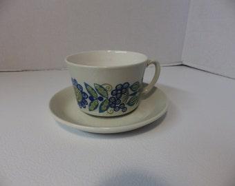 Vintage Figgjo Flint Tor Viking Turi cup and saucer set Scandinavian Modern