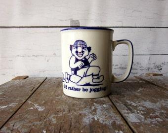 Vintage Jogging Mug I Love Running